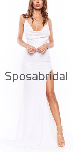 Spaghetti Straps Long  Mermaid Sexy Elegant Simple Prom Dresses, Simple Pom dress PD1896