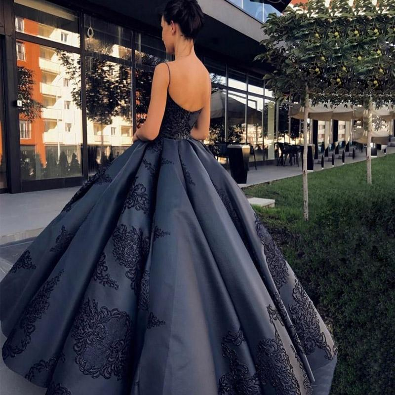 Spaghetti Straps Modest Long Best Sale Formal Prom Dress, Ball Gown ...