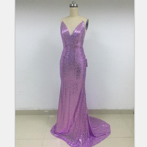 Spaghetti Straps Sequin Mermaid Modest Discount Cheap Prom Dresses Online,DD013