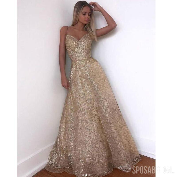 893e391fa86 Spaghetti Straps Sparkly Modest Simple Vintage Long High Quality Prom  Dresses