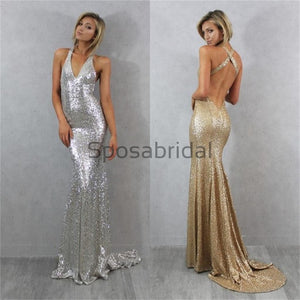Sequin Sexy Formal Fashion V-neck  Prom Dresses, Custom Bridesmaid Dresses, PD0376