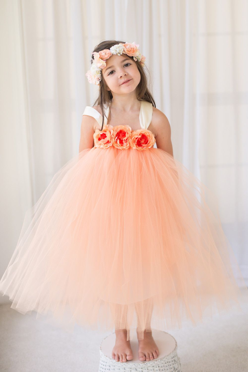 Strap Dusty Orange Pixie Tutu Dresses Cheap Popular Flower Girl