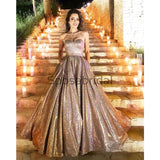 Strapless A-line Sequin Gorgeous Long Prom Dresses, Evening Dresses PD2250