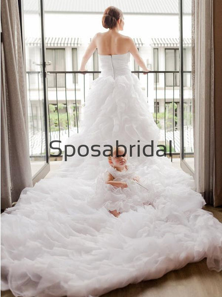 Sweatheat Tulle Rustic Illusion Chic Country Beach Long Wedding Dresses WD0556