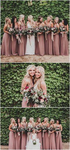 Sweetheart  Long Cheap  Chiffon Simple Soft Floor-Length Formal Bridesmaid Dresses, PD0496