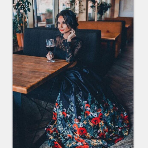 products/Two_Pieces_Black_Long_Sleeves_Pretty_Popular_floral_Graduation_Prom_Dresses.jpg
