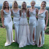 Unique Design Cheap Modest Long Bridesmaid Dresses  WG709