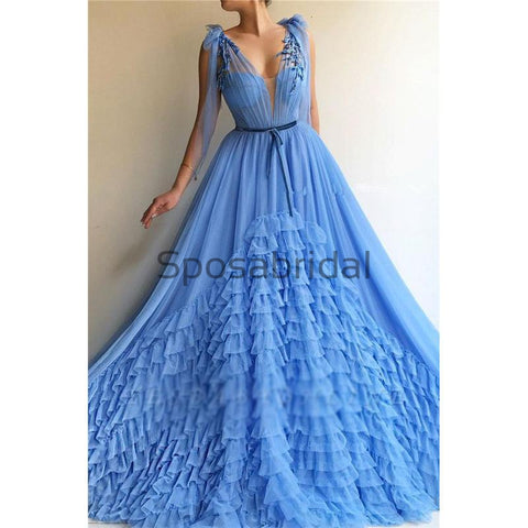 products/Unique_A-line_Blue_Tulle_V-Neck_Modest_Prom_Dresses_1.jpg