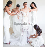 Unqiue Design White Formal Mermaid Elegant Bridesmaid Dresses WG801