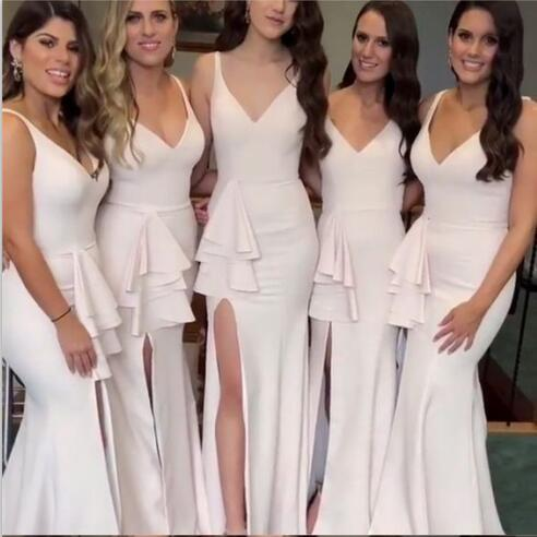 1f45597210 V-Neck Long Special Design New Mermaid Cheap Bridesmaid Dresses, wedding  guest dress,WG367 V-Neck Long Special Design New Mermaid Cheap Bridesmaid  ...