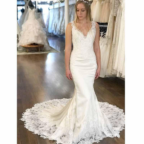 products/V-Neck_Mermaid_Unique_Design_Modest_Affordable_Long_Wedding_Dresses_with_lace_appliques.jpg