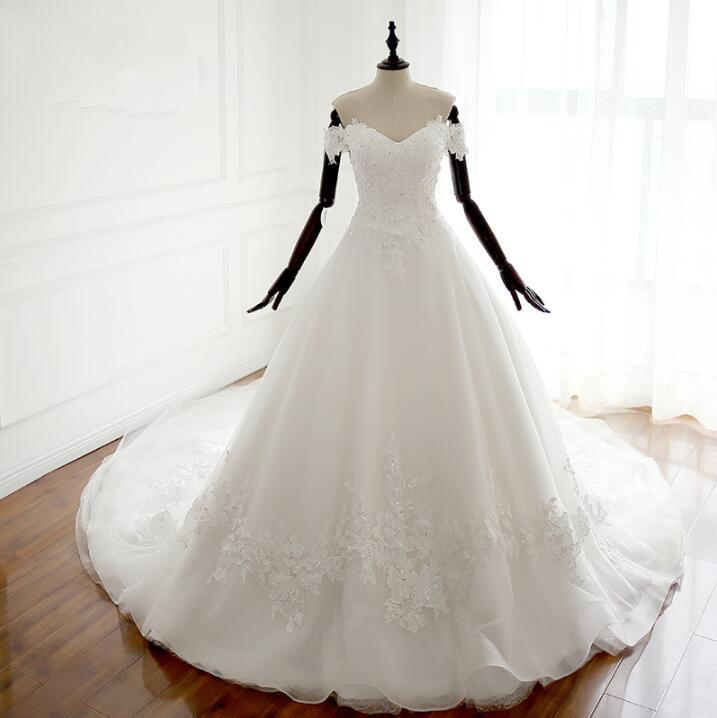 White off shoulder long affordable wedding dresses real made cheap white off shoulder long affordable wedding dresses real made cheap high quality bridal gowns with junglespirit Images