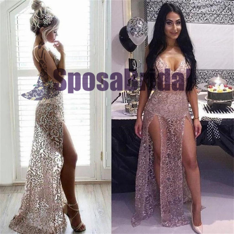 See-through Sexy Mermaid Sparkly Unique Prom Dresses, Party Dress, Evening Dresses, PD0495