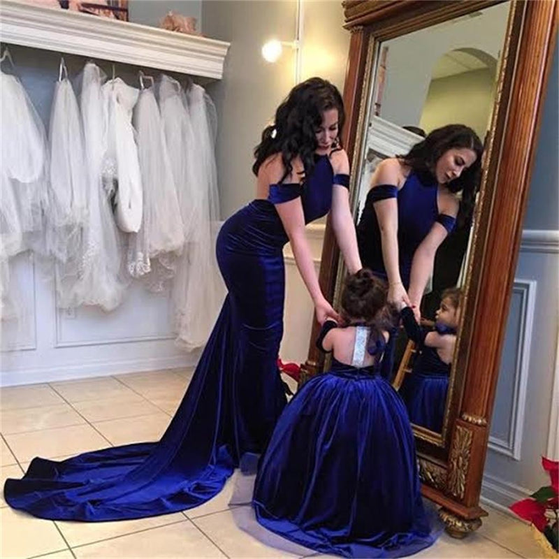 Prom Dresses, Charming Mermaid Sexy Blue Popular Fashion Backless Prom Dresses, PD0450