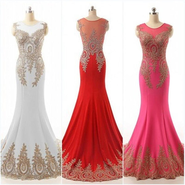White Sparkle Evening Dress,Gold Beaded Red Glitter Black Mermaid Pink Formal Prom Dress  , PD0289