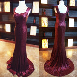 Sequin Long Mermaid Sexy Popular Custom Sparkly  Bridesmaid Dresses, PD0356