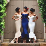 Off Shoulder Sweetheart Mermaid Prom Dresses,Bridesmaid Dresses, Wedding Party Dress,PD0007