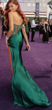 Sweetheart Sleeveless Side Slit Mermaid Strapless Long Prom Dress, PD3038