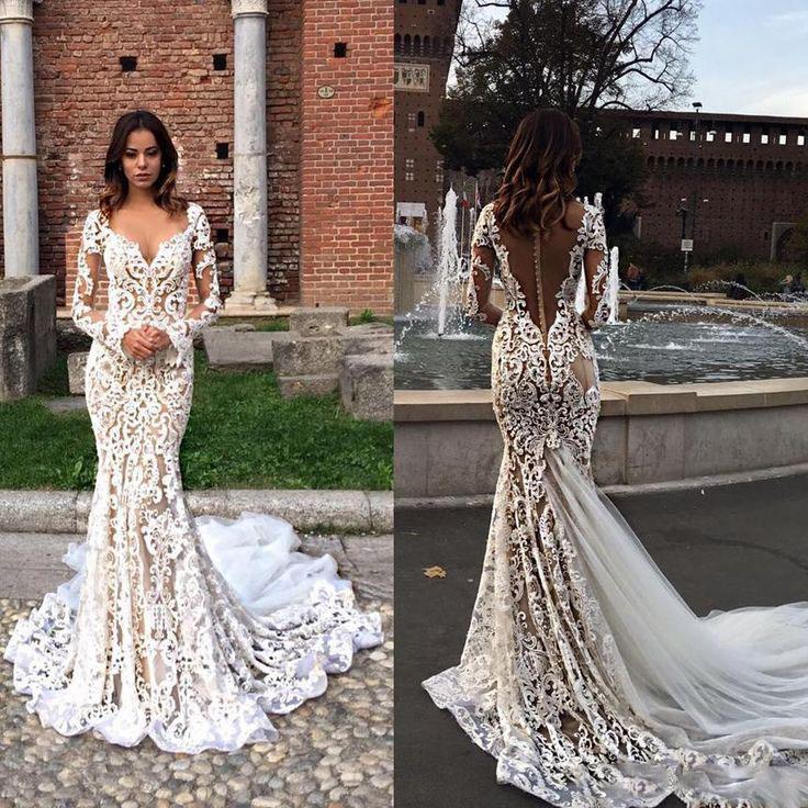 Custom Long Sleeves Lace Elegant Fashion Charming Wedding Dresses, Bridal Dress,  PD0603