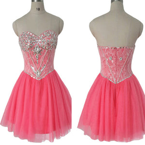 sparkly strapless mini cute off shoulder unique homecoming prom dress,BD0004