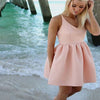 Dark pink stain simple modest off shoulder graduation homecoming dresses,BD00106