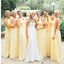 New Yellow Hater Sleeveless Simple Chiffon A-line Wedding Party Affordable Formal Bridesmaid Dress.AB1152