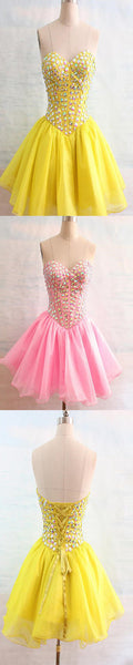 Sweetheart beaded tight freshman lovely simple casual homecoming dresses,BD00117