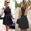popular stain black simple vintage freshman cocktail homecoming prom dresses, BD00138