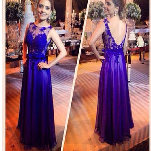 2017 Royal Blue Lace Elegant For Teens Open Back Evening Prom Gown Dresses .PD260