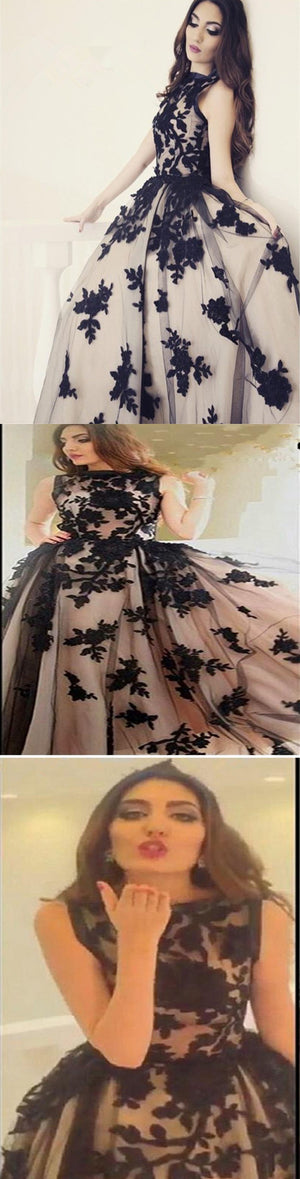 2017 Vintage Ball Gown Appliques Modest Formal Evening Party Long Prom Dresses. BD1221