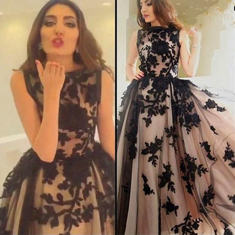 2017 Vintage Ball Gown Appliques Modest Formal Evening Party Long ...