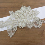 Big Beading Floral Bridal Belt,Wedding Belt,Girl Sash, Gorgeous Pearl Wedding Sashes, SA0030