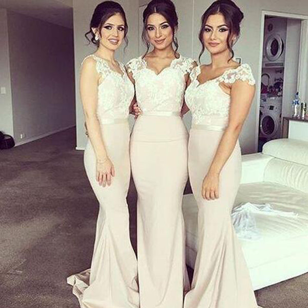 Charming Off Shoulder Sweet Heart Lace Sexy Mermaid Impressive Long Wedding Party Dresses, WG194