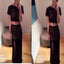 Long Black Two Pieces Lace Cocktail For Teens Prom Dress ,PD0171