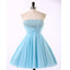 Cheap Chiffon Light Blue Cute homecoming prom dresses, CM0018