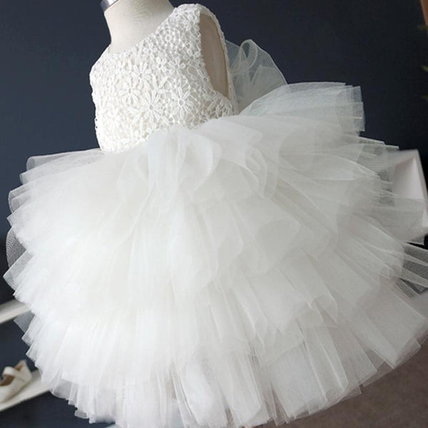 Off White Lace Top Tulle Flower Girl Dresses, Cute Tutu Dresses for Wedding, FG032