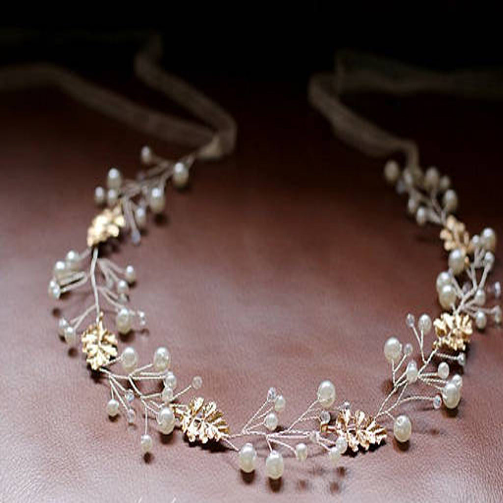 Bridal Sash Belt , Wedding Sash Belt , Golden Leaf Rhinestone Sash Belt , Pearl Wedding Sash, SA0032