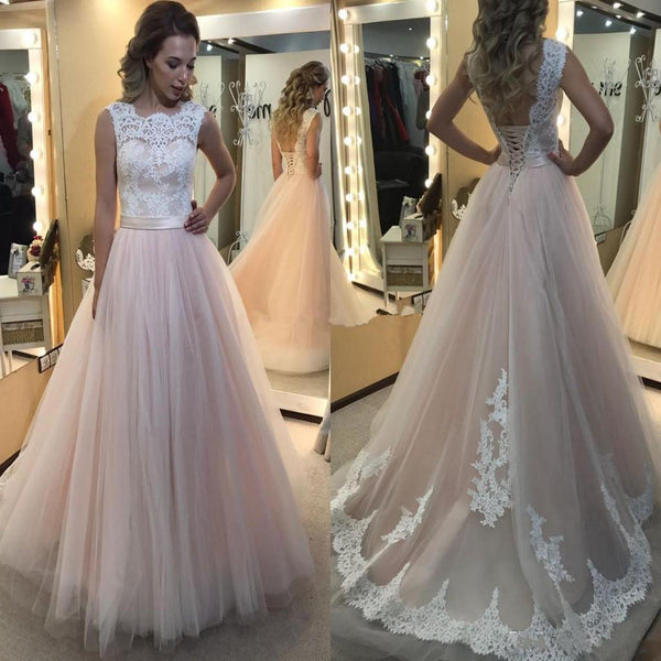 2017 Lace A-line Ball Gown Elegant Charming Formal Prom Dresses.   BD0301