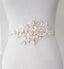 Gorgeous Beading Sash, White Lace Flowers Beading Sash,Elegant Girl Sash,Bridesmaids Wedding Sash, SA0013
