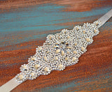 Crystal Rhinestone Bridal Belt, Wedding Belt, Wedding Sash,Gorgeous Ivory Belt, SA0018