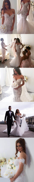 New Vintage Mermaid Off The Shoulder Formal Lace Charming Wedding Dresses. AB0220