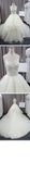 Vintage Lace Unique Design Ivory Tulle Wedding Dresses, Gorgeous Bridal Gown, WD0074