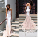 Long Mermaid Sweetheart Unique Sexy With Straps Elegant Cheap Prom Dresses. BD0240