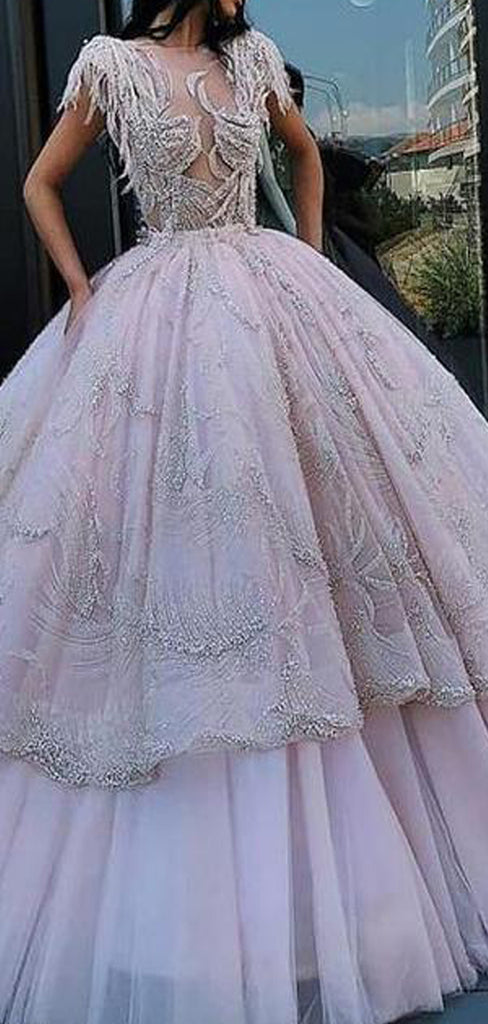 A-line Gorgeous Elegant High Quality Custom Unique Design Prom Dresses, PD1076