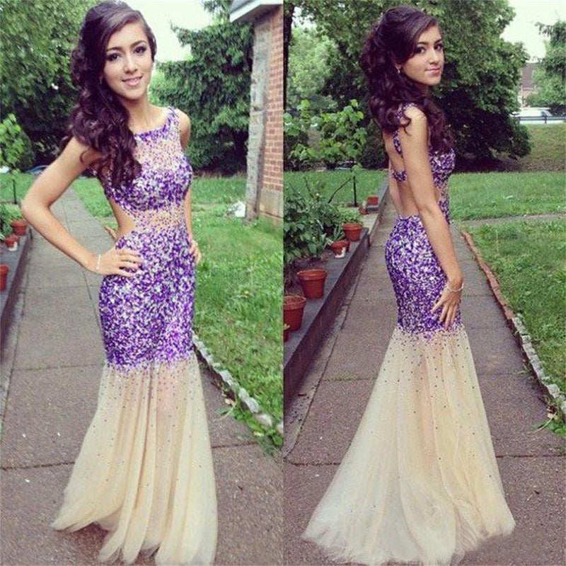 Popular Fashion Sparkly Mermaid Unique Style Evening Cocktail Prom Dresses Online,PD0101