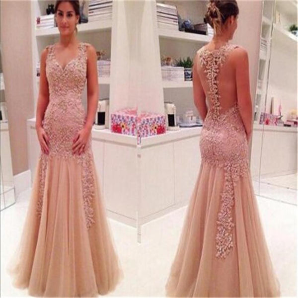 New Off Shoulder Back See-through Sexy Charming Prom Dresses Online,PD0134