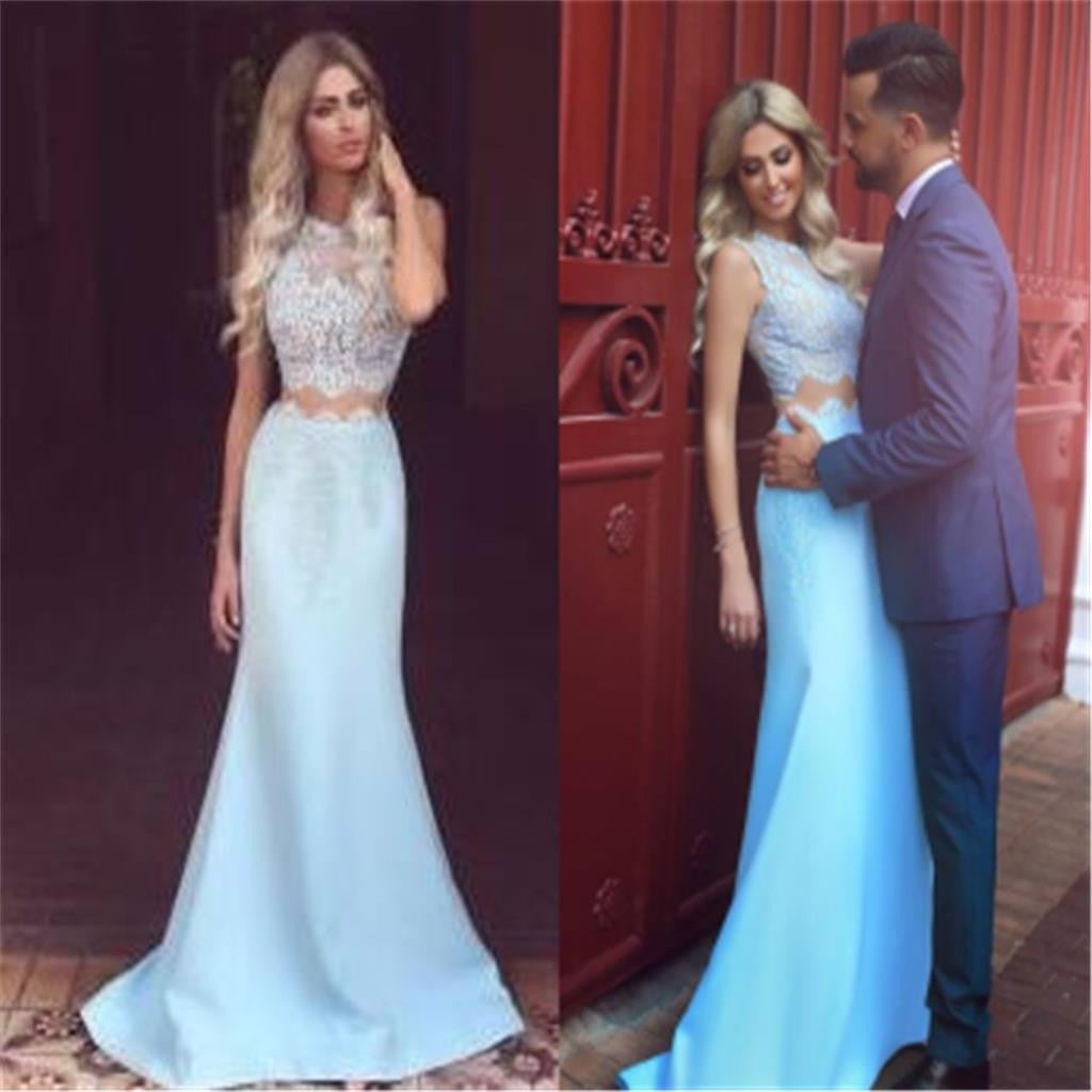 Two Pieces Mermaid Elegant Charming Evening Cocktail Prom Dresses Long Online,PD0190