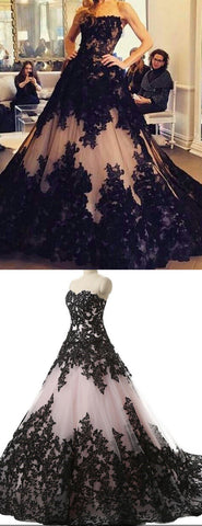 products/Black_Lace_Nude_Strapless_Ball_Gown_Princess_Prom_Dresses_PD00296-2.jpg