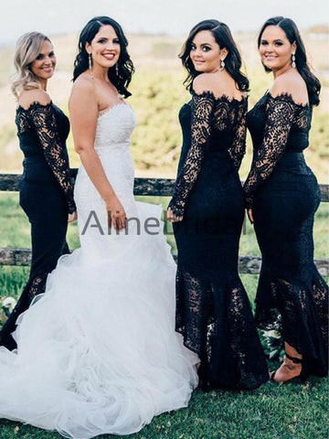 products/Black_Lace_Off_Shoulder_High_Low_Mermaid_Bridesmaid_Dresses_AB4038-1.jpg
