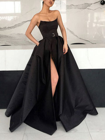 products/Black_Satin_Strapless_Pockets_Ball_Gown_Formal_Prom_Dresses_PD00153-1.jpg